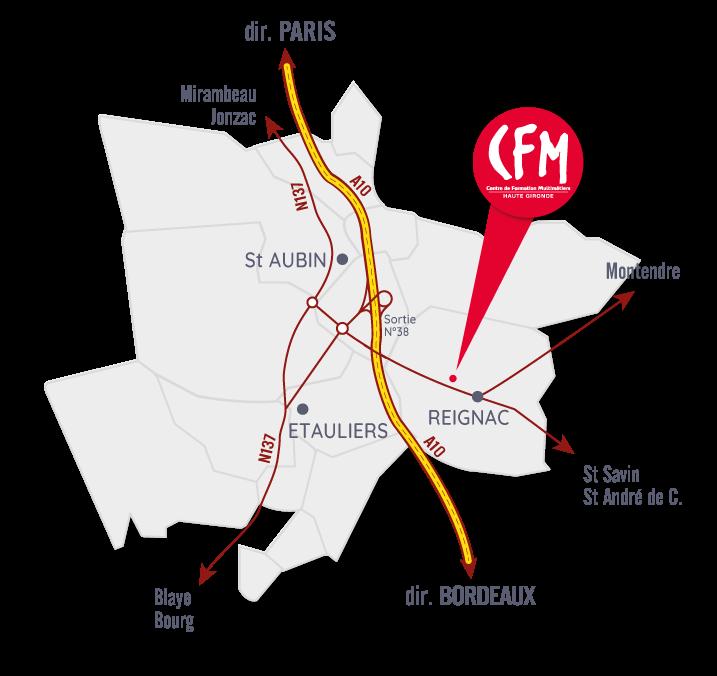Carte CFM de Reignac
